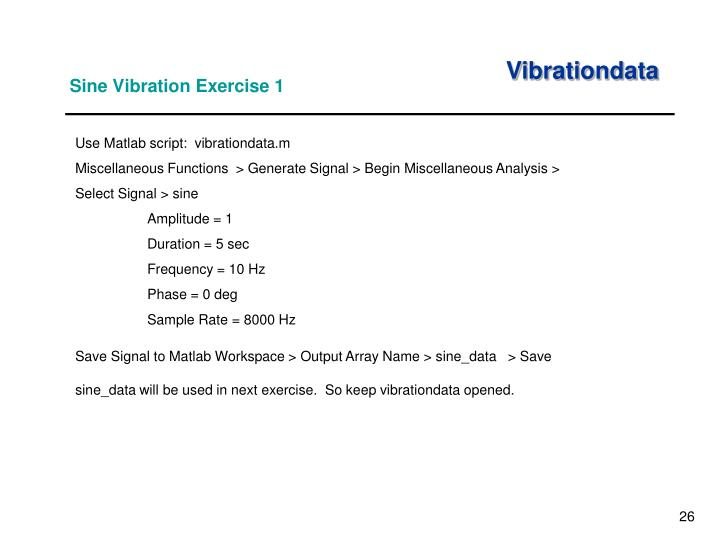 Sine Vibration Exercise 1