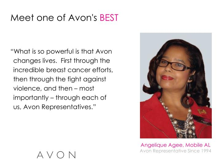 Meet one of Avon's