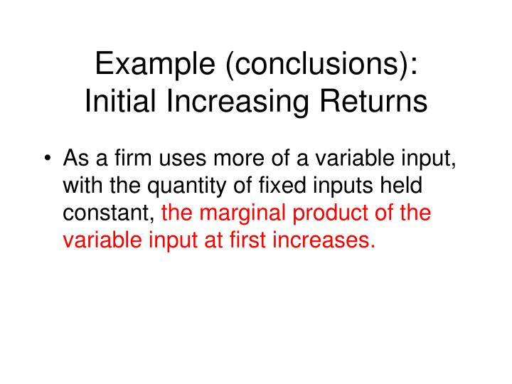 Example (conclusions):