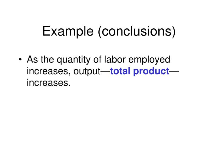 Example (conclusions)