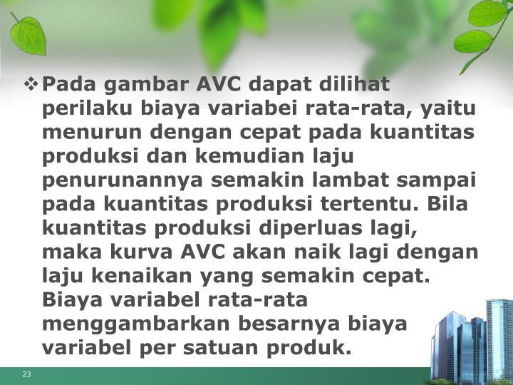 produksi dengan satu variabel Salah satu hal yang perlu dilakukan adalah memperhitungkan mengenai  cara  membagi biaya variabel total (tvc) dengan jumlah produksi.