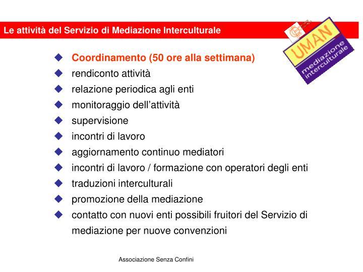Le attività del Servizio di Mediazione Interculturale