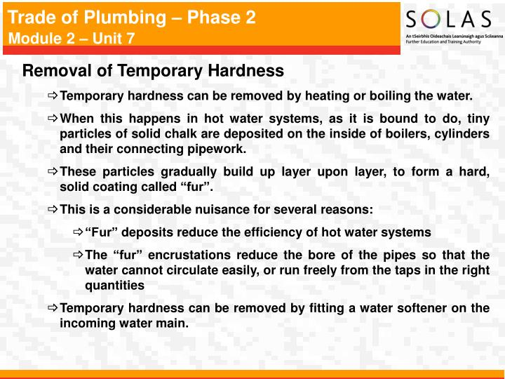 Removal of Temporary Hardness