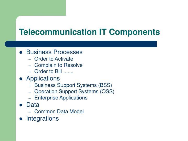 Telecommunication IT Components