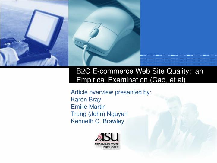B2c e commerce web site quality an empirical examination cao et al