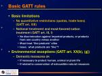 basic gatt rules