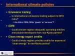 international climate policies