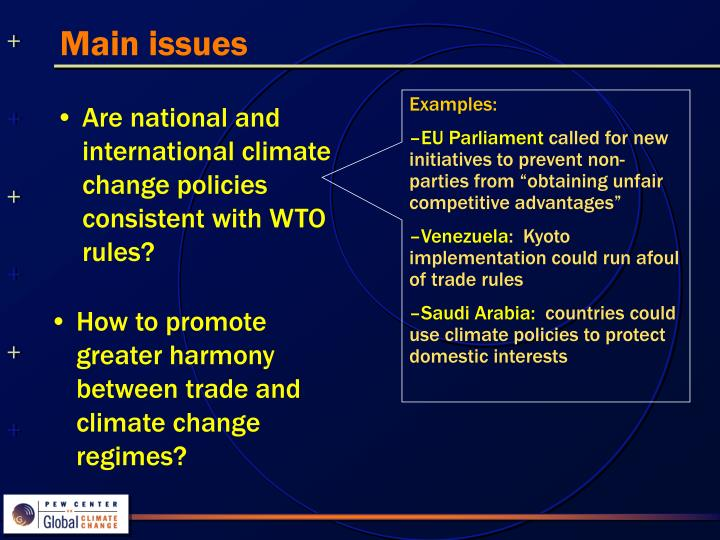 Are national and international climate change policies consistent with WTO rules?