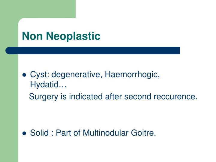 Non Neoplastic