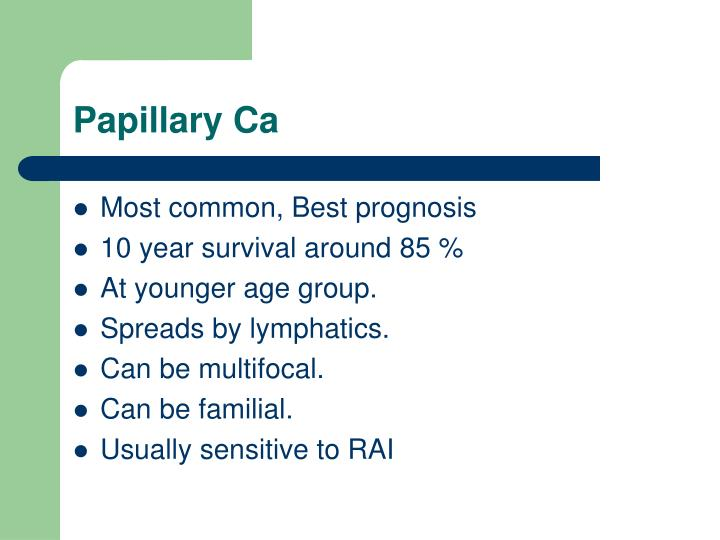 Papillary Ca