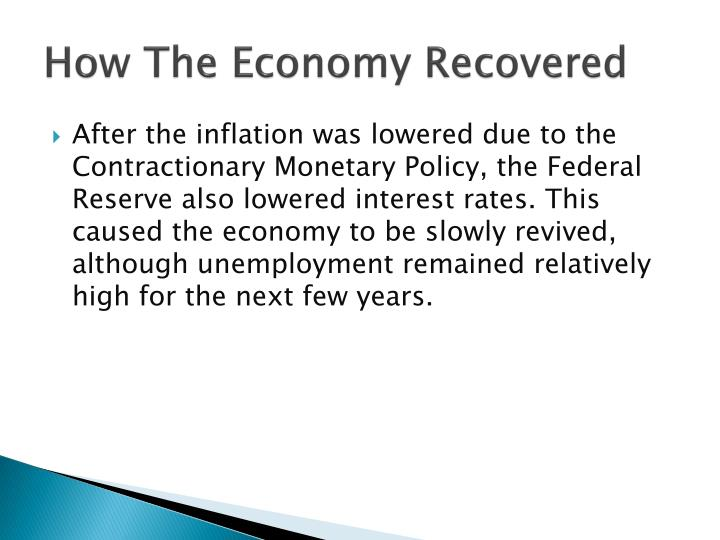 How The Economy Recovered