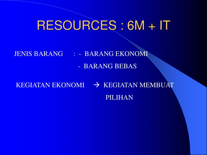 Resources 6m it