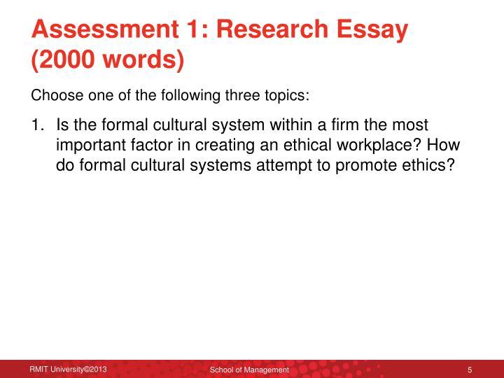 Assessment 1:
