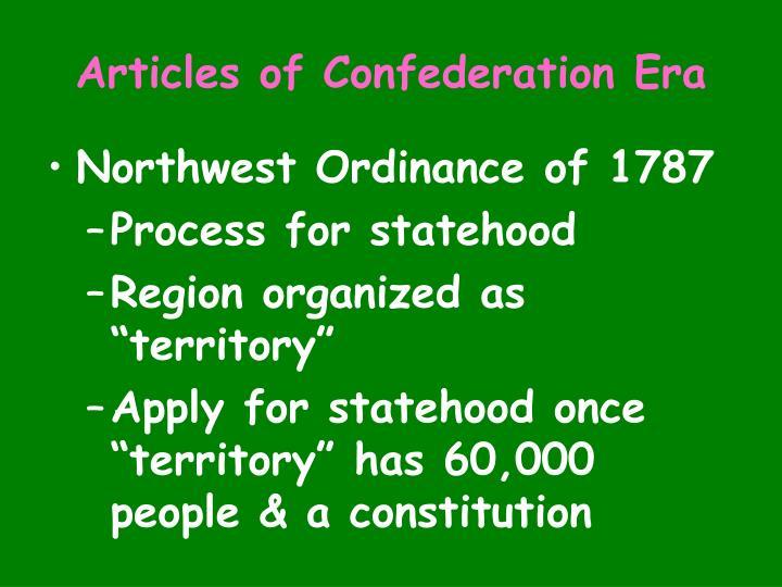 Articles of Confederation Era
