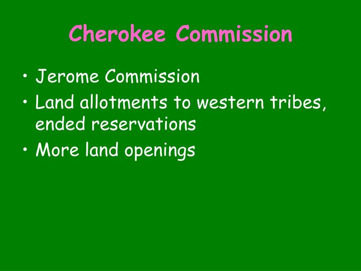 Cherokee Commission