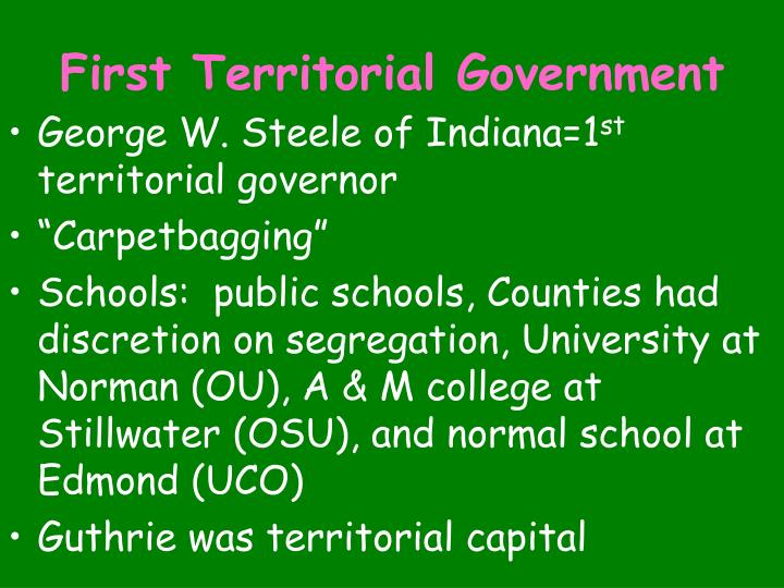 First Territorial Government