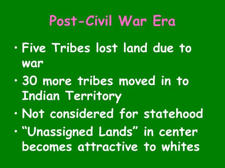 Post-Civil War Era