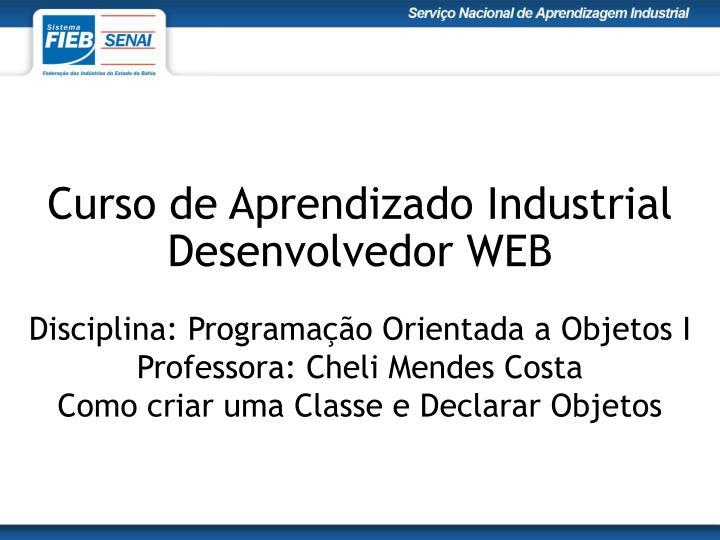 Curso de Aprendizado Industrial
