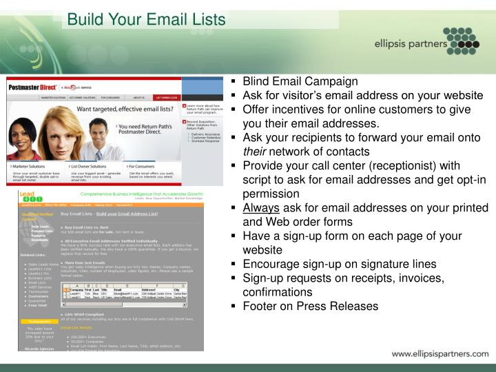 Build Your Email Lists