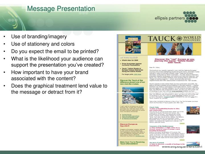 Message Presentation