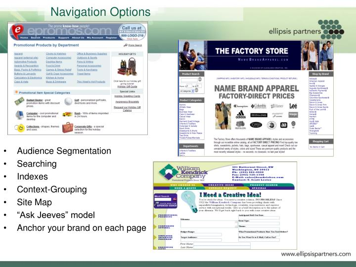 Navigation Options