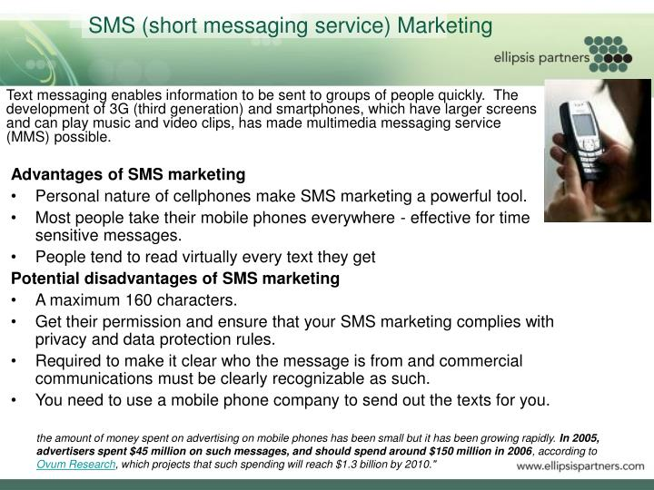 SMS (short messaging service) Marketing