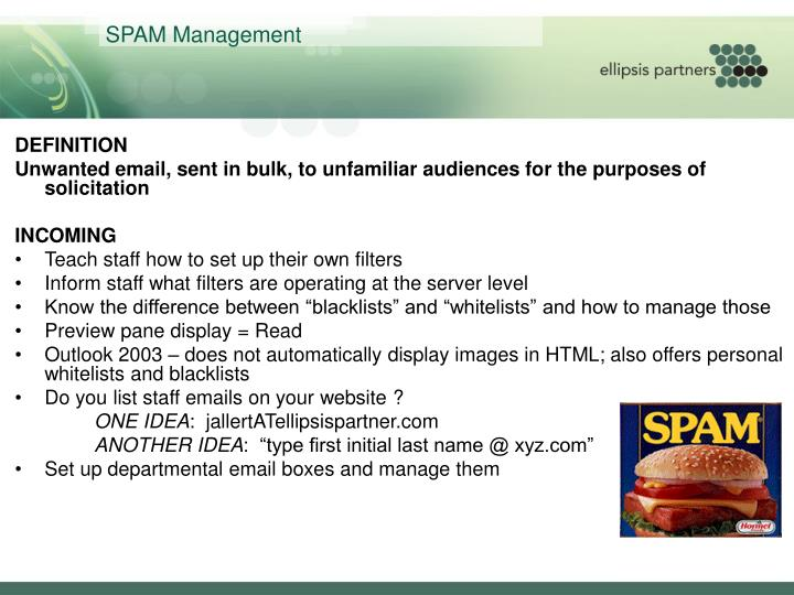 SPAM Management