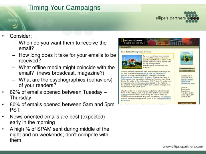 Timing Your Campaigns