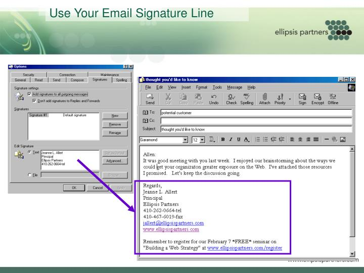Use Your Email Signature Line