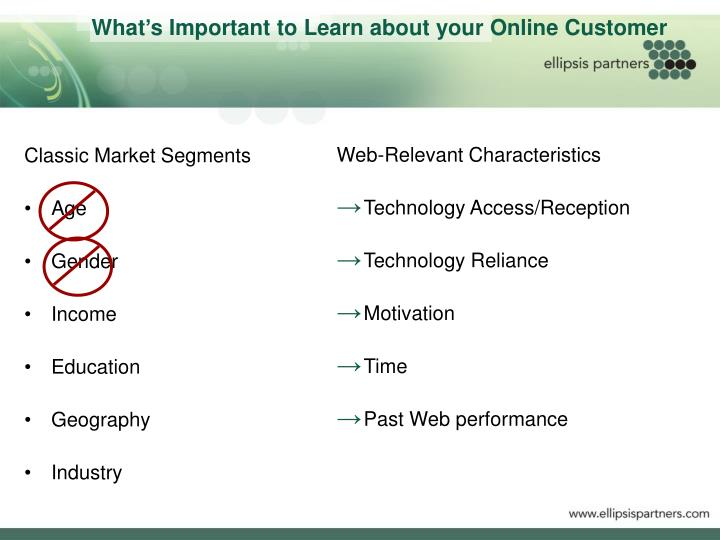 What's Important to Learn about your Online Customer