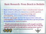 basic research from bench to bedside