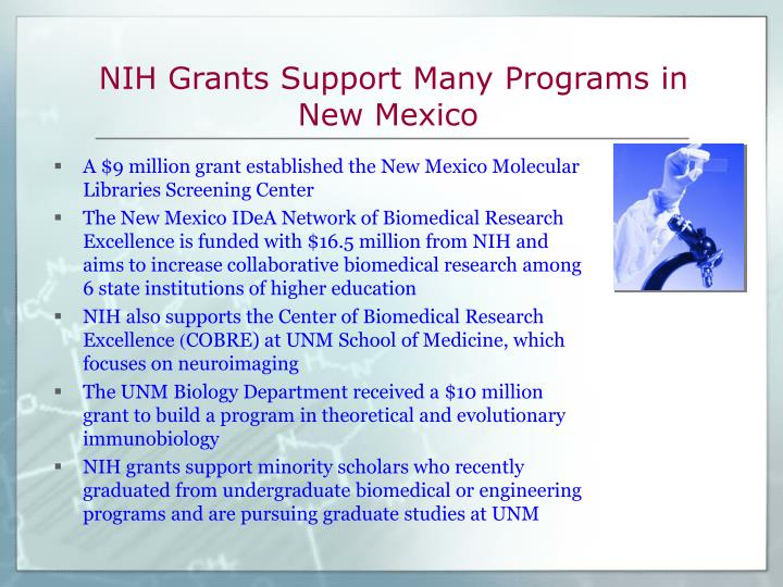 NIH Grants Support Many Programs in New Mexico