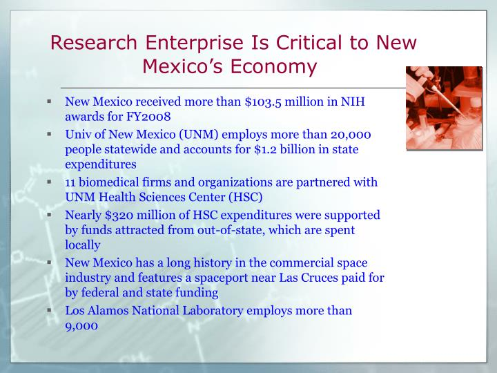 Research enterprise is critical to new mexico s economy