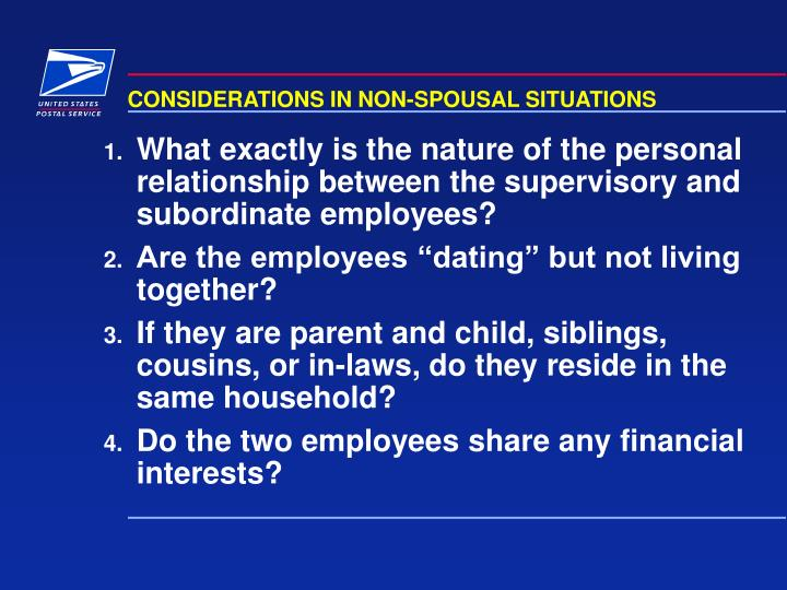 CONSIDERATIONS IN NON-SPOUSAL SITUATIONS
