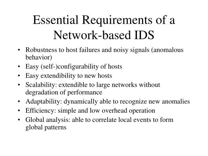 Essential Requirements of a Network-based IDS