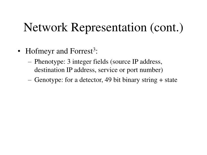 Network Representation (cont.)