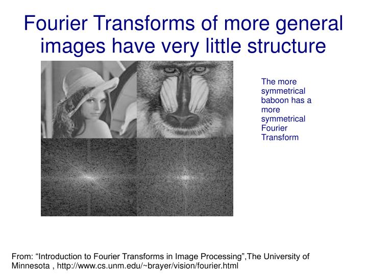 Fourier Transforms of more general images have very little structure