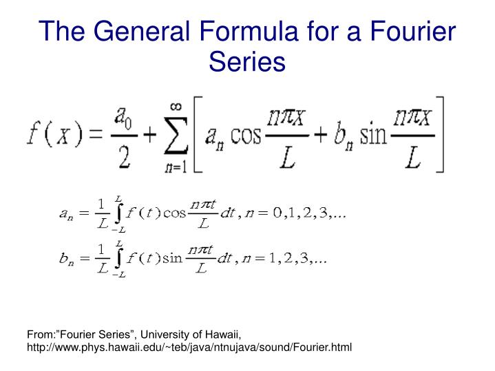 The general formula for a fourier series