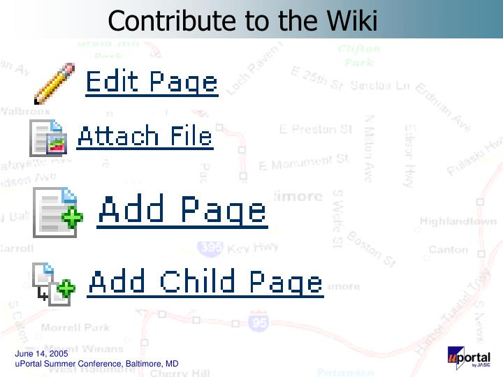 Contribute to the Wiki