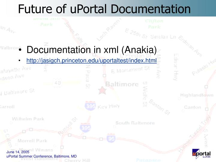 Documentation in xml (Anakia)