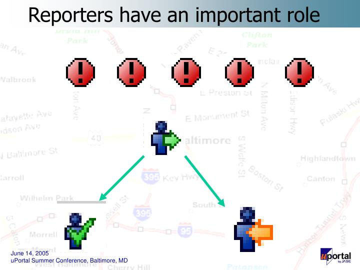 Reporters have an important role
