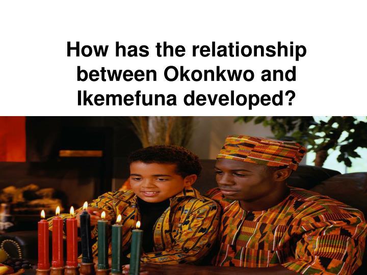 How has the relationship between Okonkwo and Ikemefuna developed?