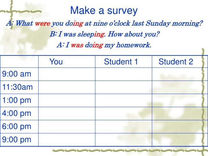 Make a survey