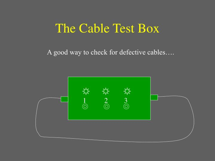 The Cable Test Box