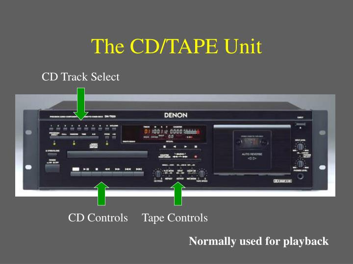 The CD/TAPE Unit