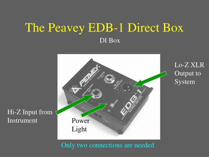 The Peavey EDB-1 Direct Box