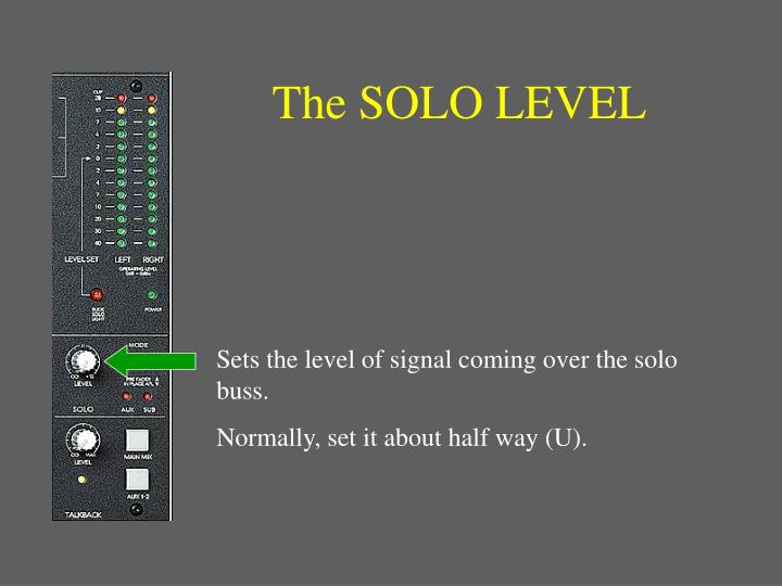 The SOLO LEVEL