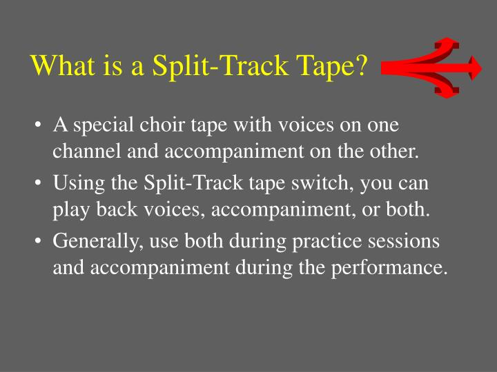 What is a Split-Track Tape?