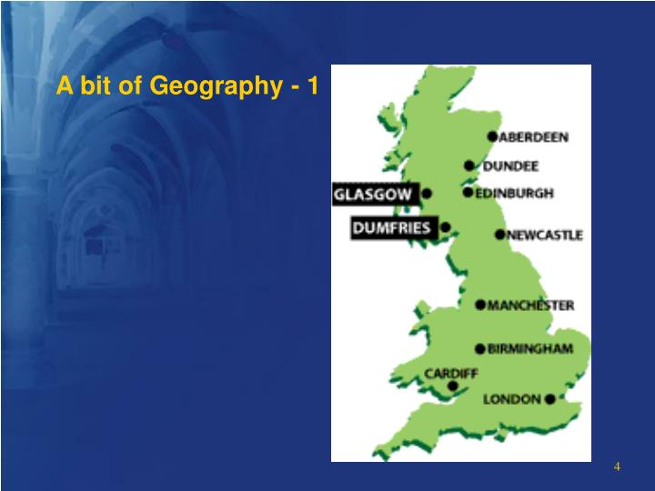 A bit of Geography - 1