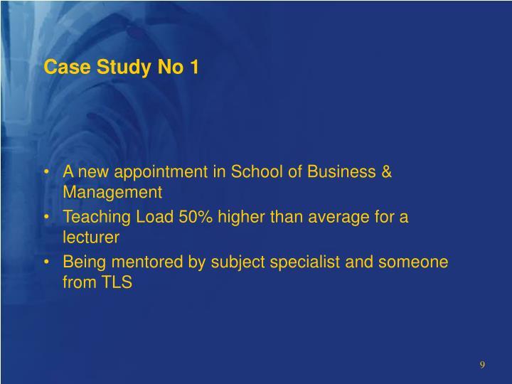 Case Study No 1